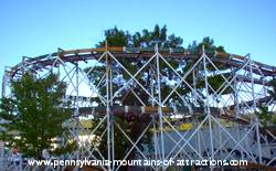 photo of a full view of Lakemont Park's landmark the Leap-the-Dips