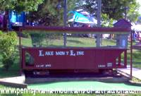 miniature train at Lakemont Park