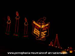 photo of the Altoona Mirror light display at Lakemont Park's Holiday Lights on the Lake