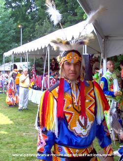 Native American Brave at DelGrosso Amusement Park's Native American Pow Wows