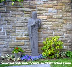 statue in Mount Assisi Gardens